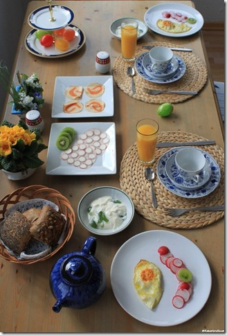 Frühstück in Sassnitz