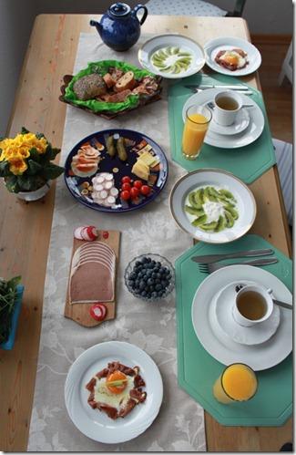 Sassnitz - Frühstück in der Wohnung