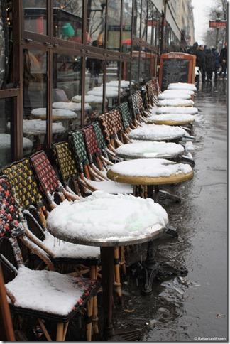 Bistro im Schnee