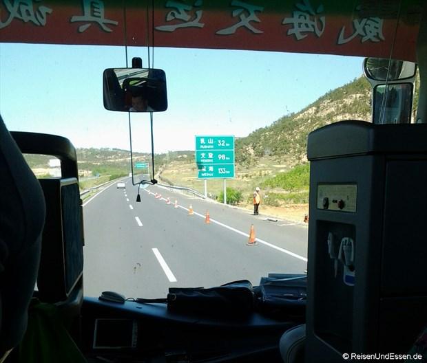 Autobahn Richtung Rushan