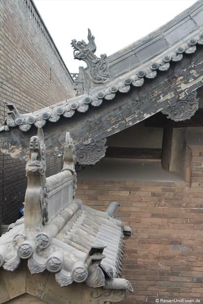 Pingyao - Dächer mit Verzierungen