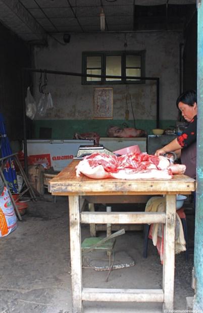 Pingyao - Fleischzubereitung