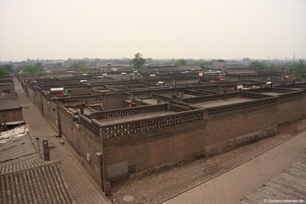 Pingyao - Blick von der Stadtmauer