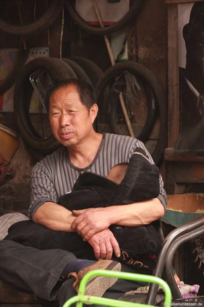 Pingyao - Ein Vater kümmert sich um das Kind