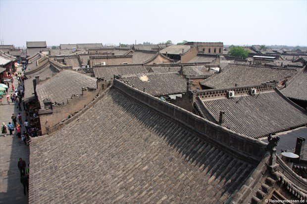 Pingyao - Blick auf Hausdächer