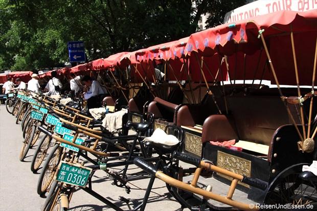 Fahrrad-Rikschas am Houhai-See