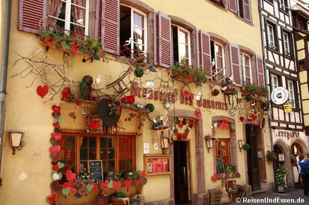 Colmar - Hausfassade in der Altstadt