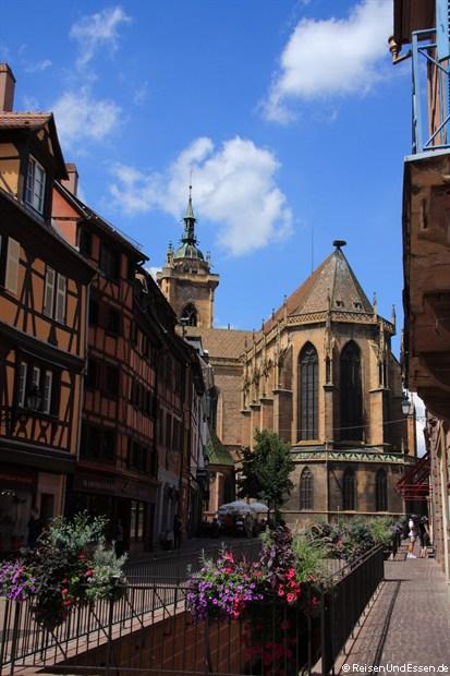 Colmar - Münster von der Grand Rue aus