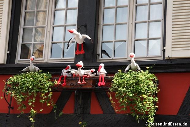 Colmar - An einer Hausfassade