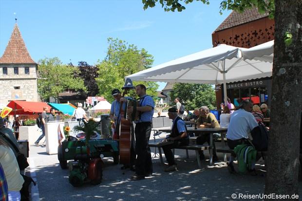 Schweiz - Markt beim Schloß Laufen