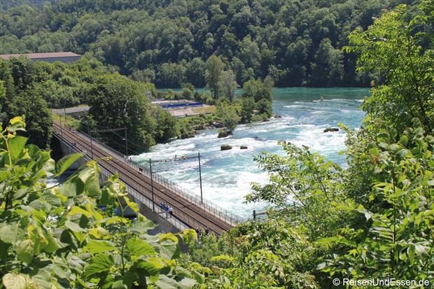 Schweiz - Eisenbahnbrücke über den Rhein