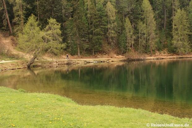 Klares Wasser im St. Moritzersee