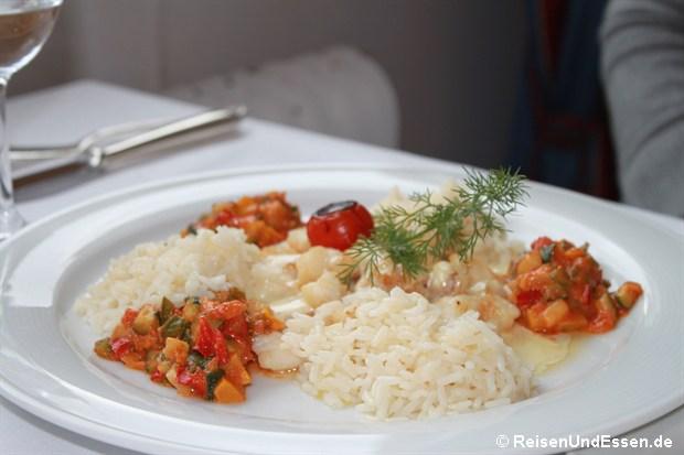 Hotelrestaurant - Seeteufel mit Gemüse