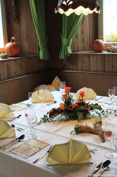 Unser Tisch im Gasthaus Sponsel