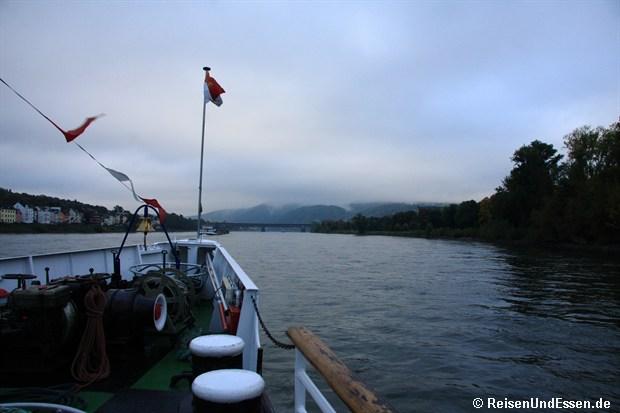 Blick Flussaufwärts bei leider trüben Wetter