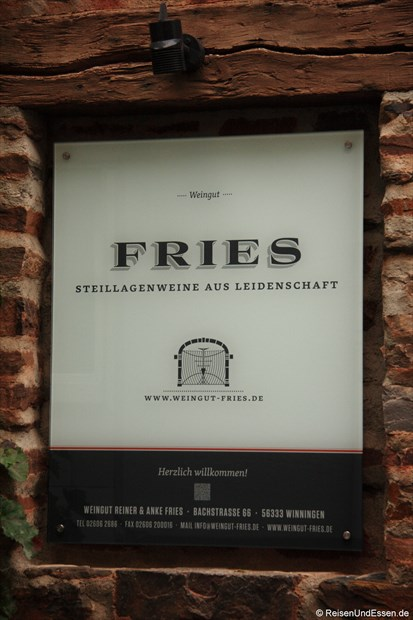 Beim Weingut Fries