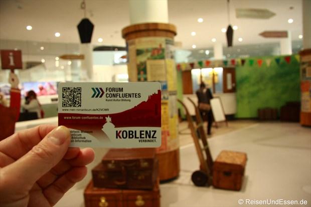 Eintritts- und Speicherkarte Forum Confluentes Koblenz