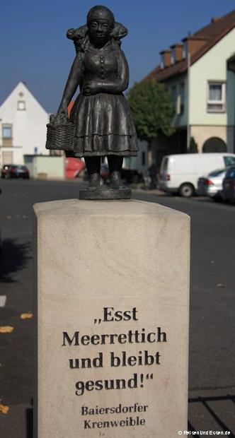 Vor dem Meerrettichmuseum in Baiersdorf