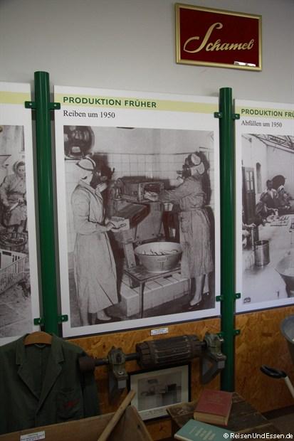 Im Meerrettichmuseum in Baiersdorf - so wurde früher gearbeitet
