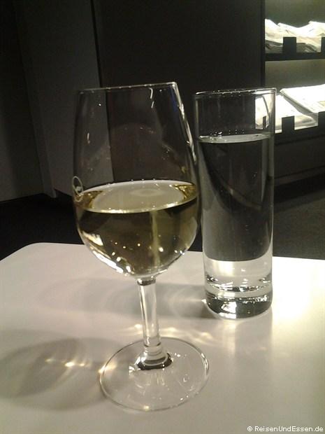 In der Lufthansa Lounge am Flughafen München