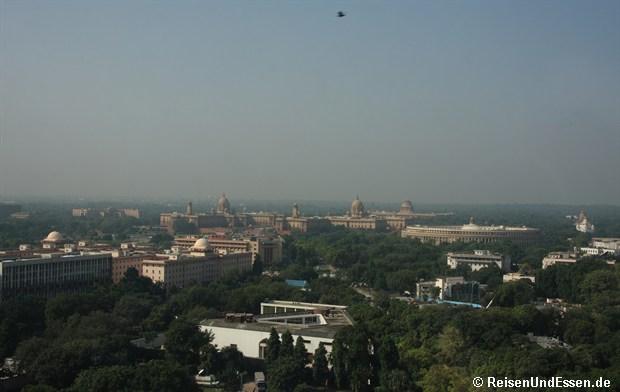 Blick vom Zimmer im Le Meridien Delhi auf Regierungsviertel