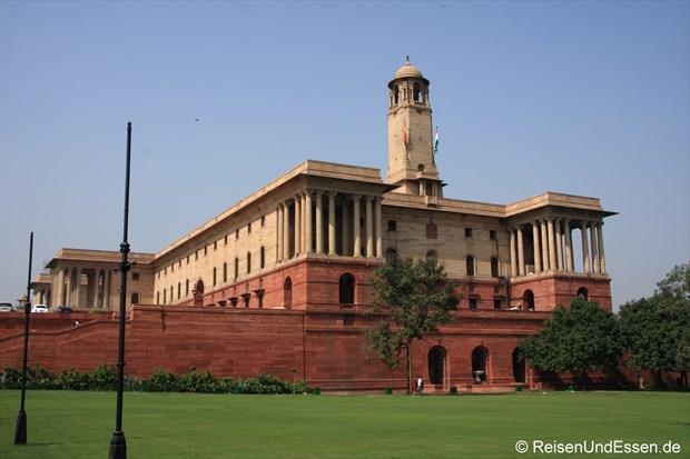Gebäude auf der rechten Seite beim Rashtrapati Bhavan