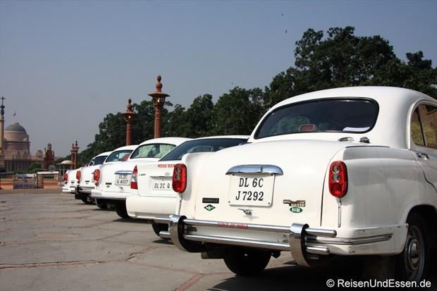 Fahrzeugflotte beim Rashtrapati Bhavan