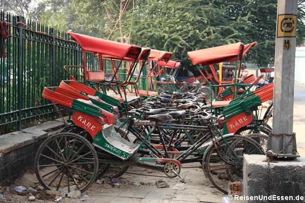 Fahrrad-Rikschas in Old Delhi