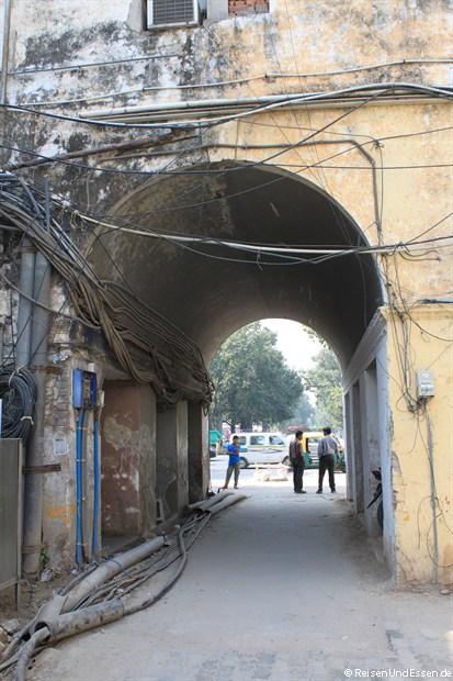 Abseits der Hauptstrassen in Delhi