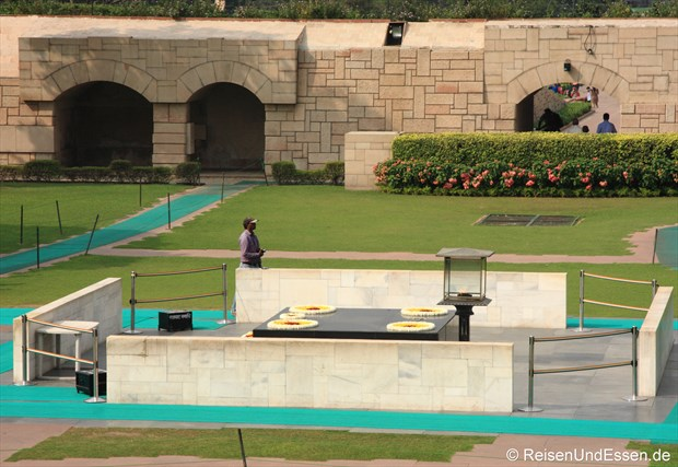 Verbrennungsplatz (Raj Ghat) von Mahatma Gandhi