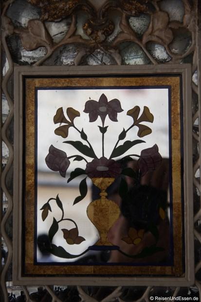Verzierter Spiegel im Fort Amber