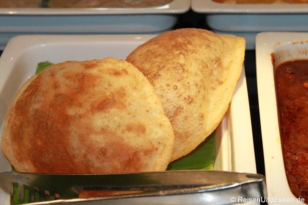 Frühstücksangebot im Le Meridien - Bhatura