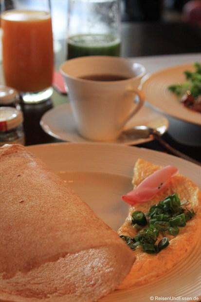 Dosa und Omelett