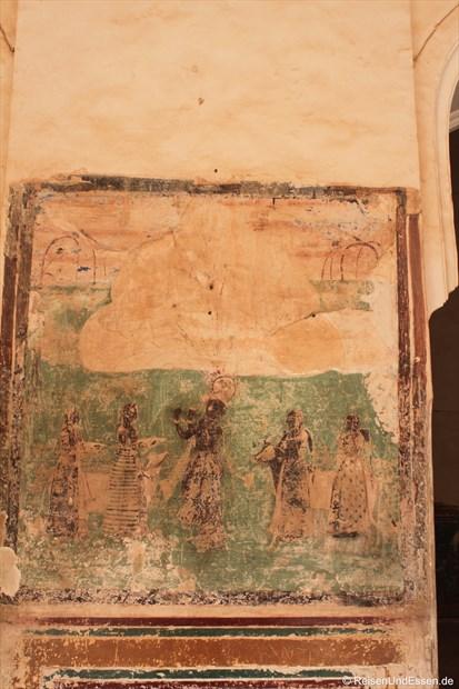 Gemälde an einer Säule im Fort Amber