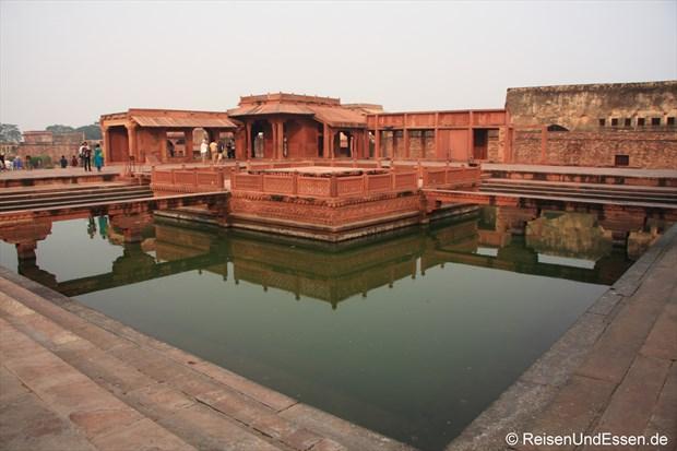 In der Palastanlage von Fatehpur Sikri