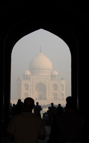 Erster Blick auf das Taj Mahal vom Haupttor
