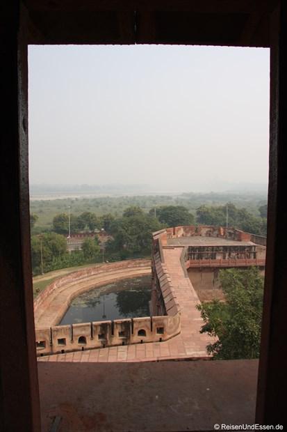 Blick vom Roten Fort in Agra