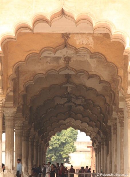 """Säulenhalle"" im Roten Fort in Agra"