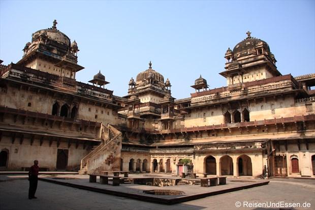 Jahangir Mahal im Fort in Orchha
