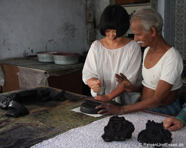 Verschiedene Stempel für Textilien