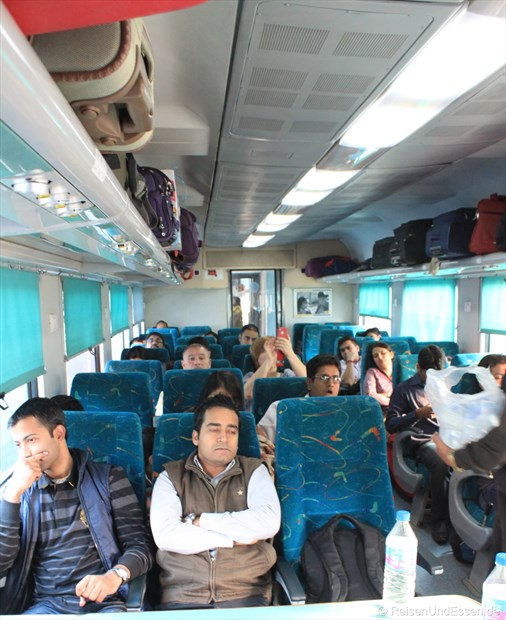 Wagen im Shatabdi-Express von Agra nach Jhansi