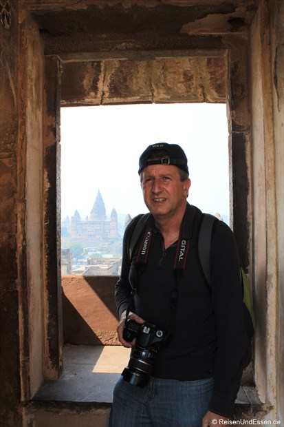 Unterwegs im Jahangir Mahal im Fort in Orchha