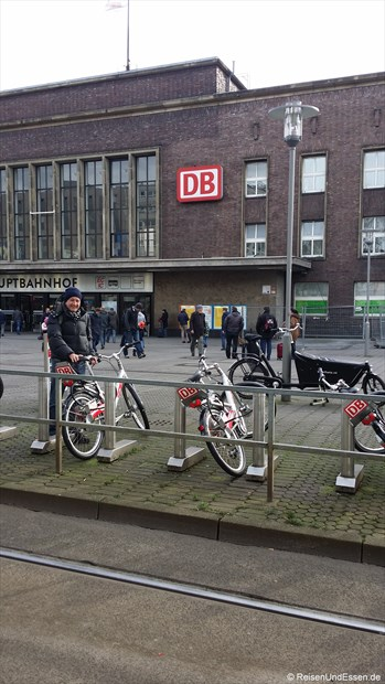 Fahrradmiete bei Call a Bike am Hauptbahnhof Düsseldorf