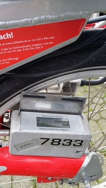 """""""Bedienkästchen"""" am Fahrrad von Call a Bike"""