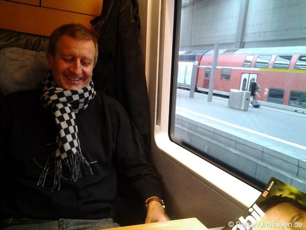 Anreise mit dem ICE nach Berlin