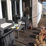 Penthouse-Wohnung über den Dächern von Berlin während der ITB