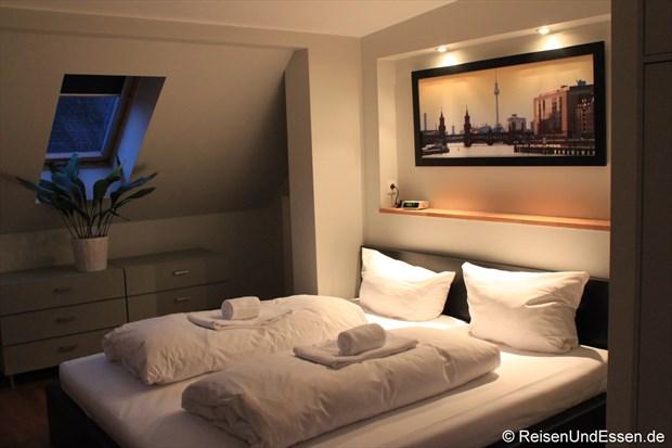 Schlafbereich in unserer Ferienwohnung in Berlin