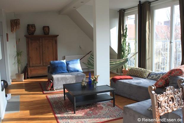 Wohnraum in unserer Ferienwohnung in Berlin