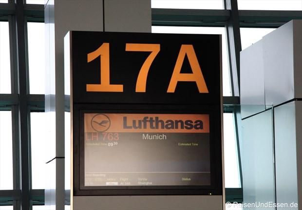 Abfluggate in Delhi nach München
