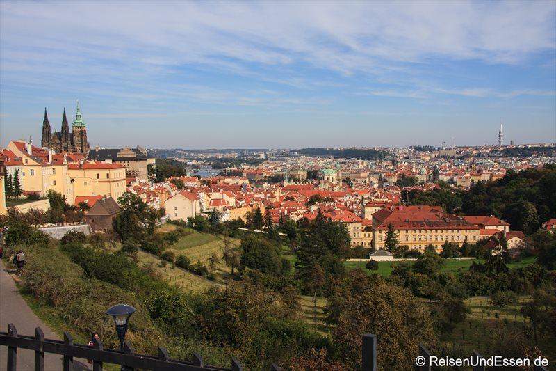 Blick vom Kloster Strahov auf Prag
